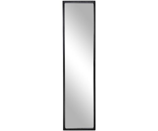 Wandspiegel Carly, Rahmen: Metall, pulverbeschichtet, Spiegelfläche: Glas, Schwarz, 25 x 100 cm