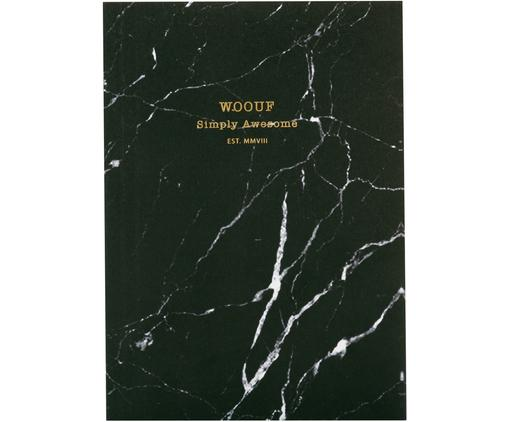 Carnet de notes Black Marble, Noir