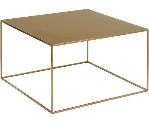Stolik kawowy z metalu Tensio w odcieniach mosiądzu, Metal malowany proszkowo, Odcienie mosiądzu, S 80 x G 80 cm