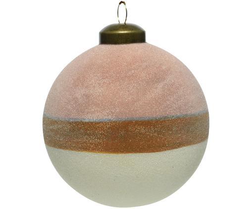 Pallina di Natale Sugar 2 pz, Rosa, marrone, bianco, Ø 8 cm