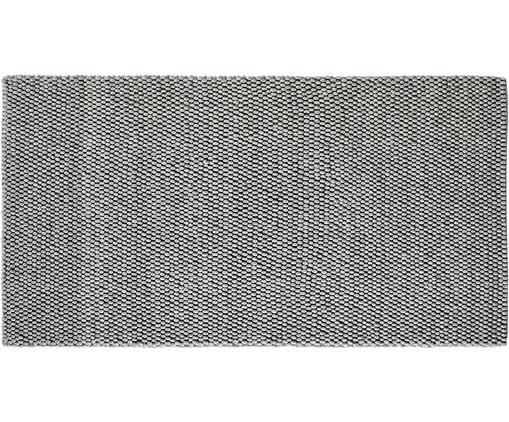 Handgenähter Wollteppich My Loft in Hellgrau meliert, Flor: 60% Wolle, 40% Viskose, Silbergrau, B 80 x L 150 cm (Größe XS)