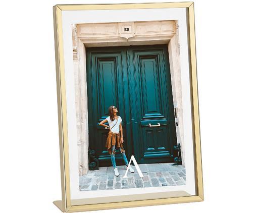 Bilderrahmen Mimi, Rahmen: Metall, beschichtet, Front: Glas, Goldfarben, 13 x 18 cm