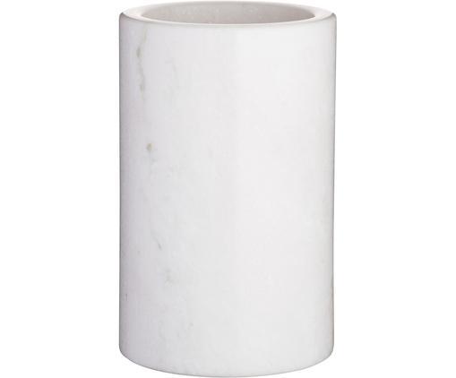 Marmor-Flaschenkühler Charlie, Marmor, Weiß, marmoriert, Ø 12 x H 19 cm