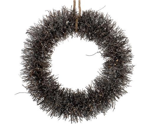 Weihnachtskranz Alvia, Braun, Silberfarben, Ø 40 x H 10 cm