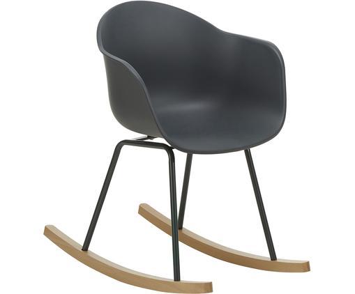 Chaise à bascule avec patins en boisClaire, Coque: gris foncé Pieds: gris foncé Structure: bois de hêtre