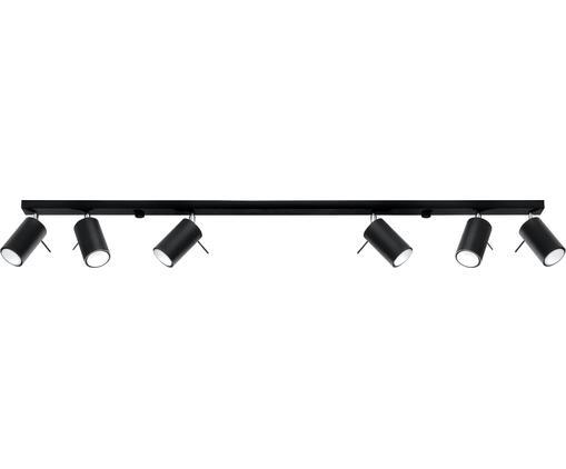Deckenstrahler Etna in Schwarz, Stahl, Schwarz, 117 x 16 cm