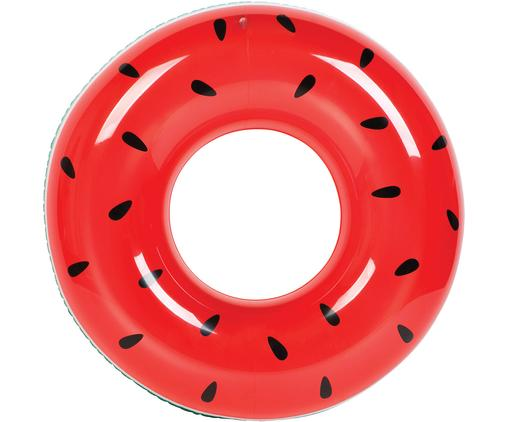 Aufblasbarer Schwimmring Watermelon Donut, Kunststoff (PVC), Rot, Türkis, Ø 112 cm