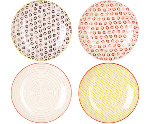 Set 4 piatti da colazione Susie, Gres, Multicolore, Ø 20 cm