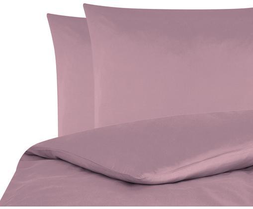 Baumwollsatin-Bettwäsche Comfort in Mauve, Mauve, 200 x 200 cm