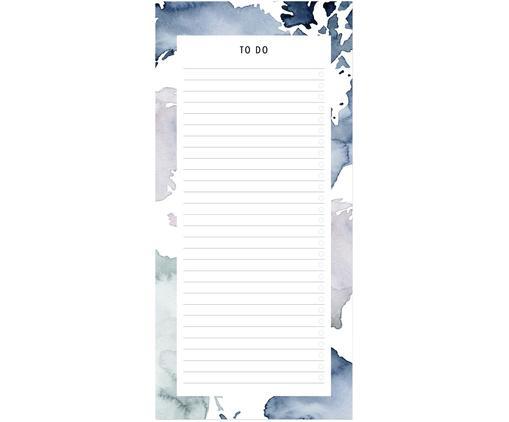 Notizblock Pastel Stains, Papier, Blau, Weiß, 21 x 30 cm