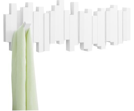 Garderobenhaken Sticks, Kunststoff, Weiß, 48 x 18 cm