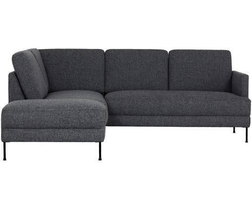 Canapé d'angle Fluente, Tissu gris foncé