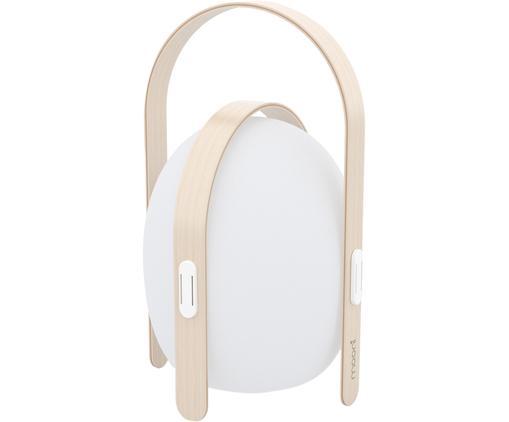 Lampe d'extérieur LED mobile Ovo, Blanc, brun clair