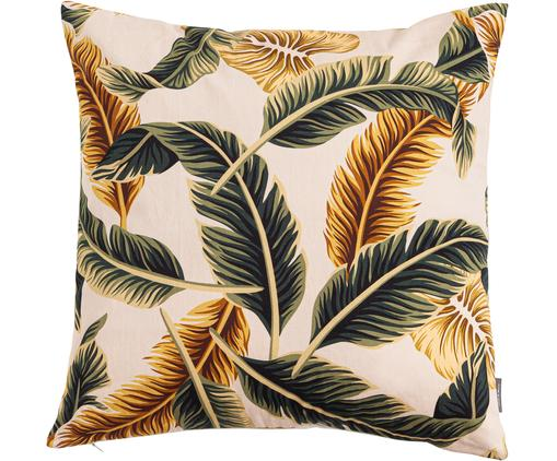 Poduszka z wypełnieniem Elegant Feather, Bawełna, Beżowy, zielony, żółtozłoty, S 45 x D 45 cm