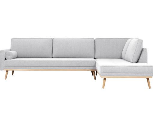 Canapé d'angle 4 places Saint, Tissu gris clair