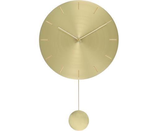 Orologio da parete Pendela, Metallo verniciato, Ottonato, Larg. 47 x Alt. 75 cm