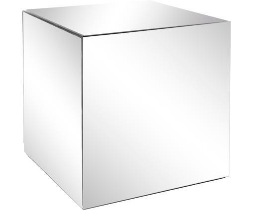 Tavolino quadrato a specchio Luxury, Superficie: lastra di vetro, Lastra di vetro, Larg. 45 x Prof. 45 cm