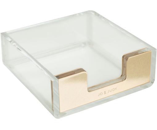 Caja Godla, Plástico, Transparente, dorado, An 10 x Al 4 cm