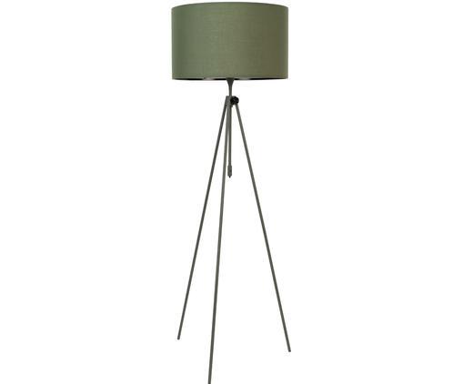 Stehleuchte Lesley, höhenverstellbar, Lampenschirm: 80% Polyester, 20%Baumwo, Lampenfuß: Metall, pulverbeschichtet, Grün, Ø 50 x H 181 cm