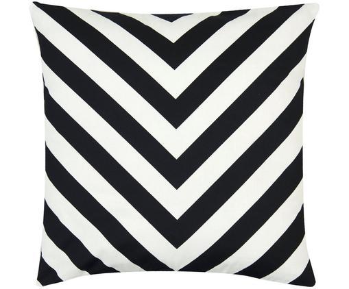 Poszewka na poduszkę Lena, 100% bawełna, splot panama, Czarny, Kremowy, S 40 x D 40 cm