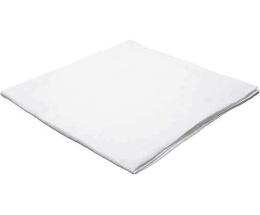 Leinen-Tischdecke Hedda, Leinen, Weiß, 135 x 150 cm