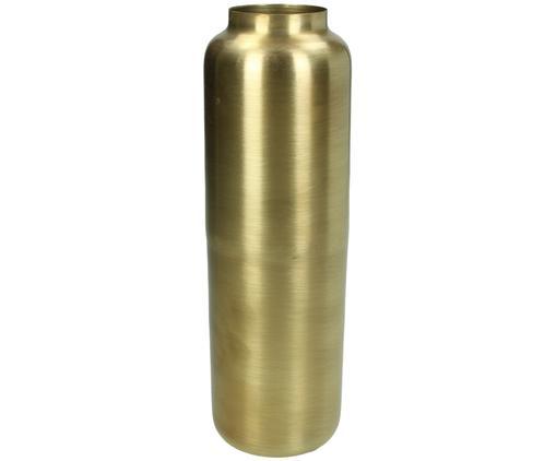 Vase Blackwater aus Metall in Gold, Metall, beschichtet, Messingfarben, Ø 9 x H 26 cm