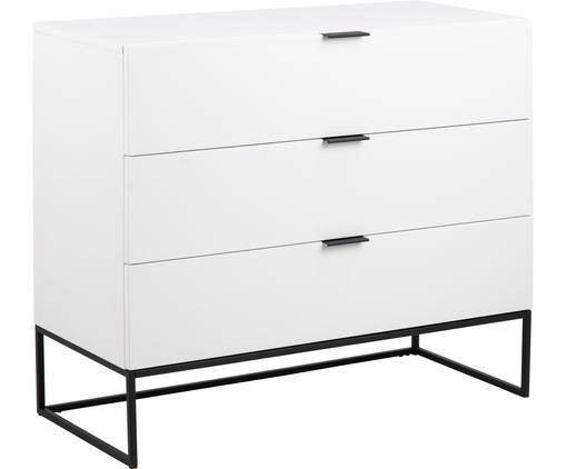 Weiße Kommode Kobe mit Schubladen, Weiß, 100 x 85 cm