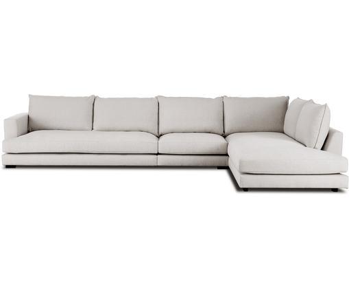 Canapé d'angle XLTribeca, Tissu gris-beige