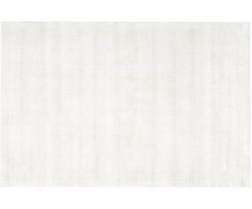 Alfombra artesanal de viscosa Jane, Parte superior: 100%viscosa, Reverso: 100%algodón, Marfil, An 160 x L 230 cm (Tamaño M)