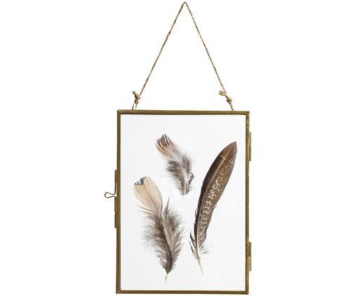 Ramka na zdjęcia Pioros, Odcienie mosiądzu, transparentny, S 13 x D 18 cm