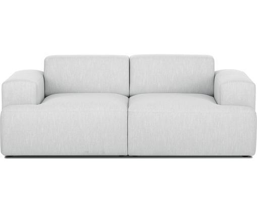 Sofa Melva (2-Sitzer), Bezug: Polyester 35.000 Scheuert, Gestell: Massives Kiefernholz, Spa, Füße: Kiefernholz, Webstoff Hellgrau, B 200 x T 101 cm