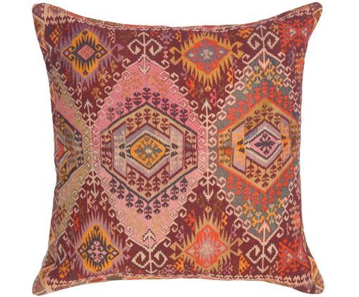 Federa arredo etnica Tarso, Cotone, Rosso, rosa, arancione, beige, Larg. 45 x Lung. 45 cm