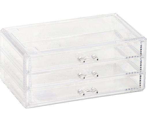 Schmink-Aufbewahrung Clear, Kunststoff, Transparent, 24 x 11 cm