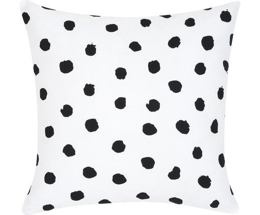 Poszewka na poduszkę Riley, Bawełna, Czarny, biały, S 40 x D 40 cm