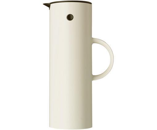 Brocca isotermica in bianco lucido EM77, Plastica ABS, interno con inserto in vetro, Bianco crema lucido, 1 l