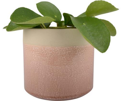 Portavaso Sally, Ceramica, Beige, rosa, Ø 16 x Alt. 15 cm