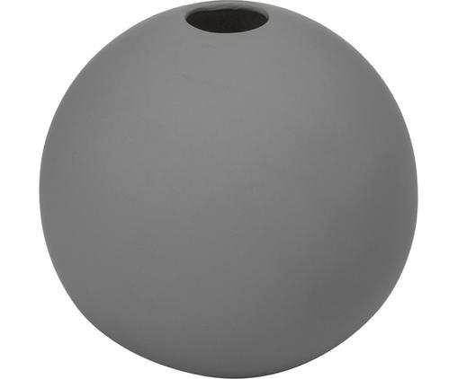 Vaso a sfera fatto a mano Ball, Ceramica, Grigio, Ø 8 x Alt. 8 cm