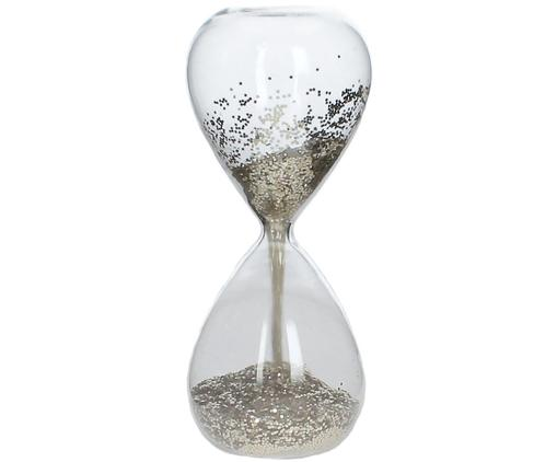 Sanduhr Time, Transparent, Goldfarben, Ø 7 x H 16 cm