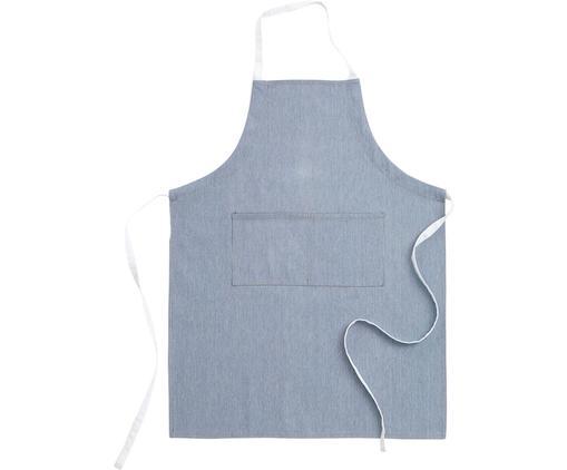 Schürze Grant, 65% Baumwolle, 35% Polyester, Jeansblau, Weiß, 70 x 90 cm