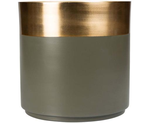 Porta vaso Aria, Acciaio, parzialmente verniciato, Dorato, verde, Ø 25 x A 25 cm