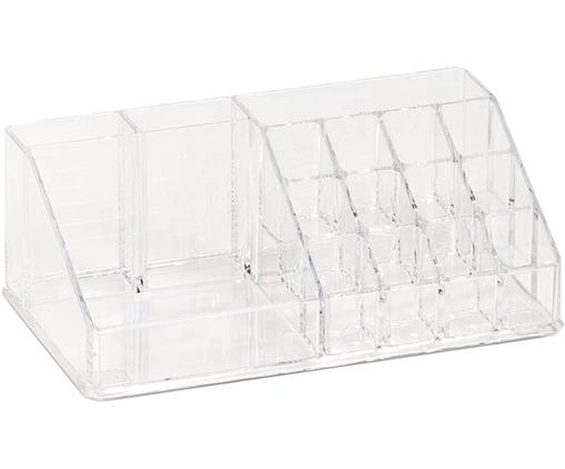 Make-up organizer Clear, Kunststof, Transparant, 22 x 8 cm