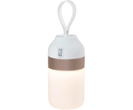 LED Außenleuchte mit Lautsprecher Colors, Gehäuse: Metall, Lampenschirm: Kunststoff, Weiß, Kupferfarben, Ø 7 x H 16 cm