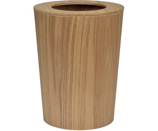 Papierkorb Saga, Mitteldichte Holzfaserplatte (MDF) mit Eschenholzfurnier, Eschenholz, Ø 24 x H 31 cm