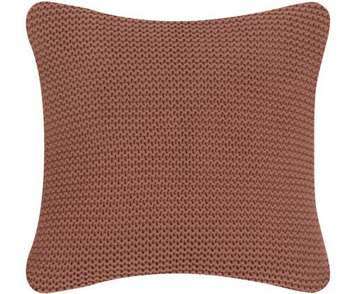 Federa arredo  in cucitura a maglia Adalyn, Cotone, Rosso ruggine, Larg. 40 x Lung. 40 cm