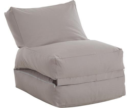 Worek do siedzenia ogrodowy z funkcją leżeniaTwist, Tapicerka: poliakryl poliaktylonitry, Szary, 70 x 80 cm