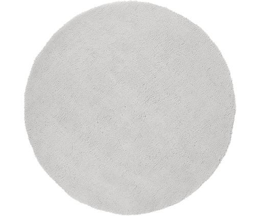 Tappeto peloso rotondo grigio chiaro Leighton, Retro: 100% poliestere, Grigio chiaro, Ø 200 cm (taglia L)
