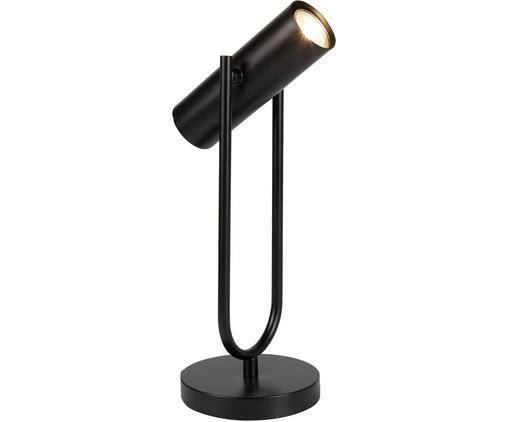 Schreibtischlampe Cylinder in Schwarz, Nickel, lackiert, Schwarz, 14 x 45 cm