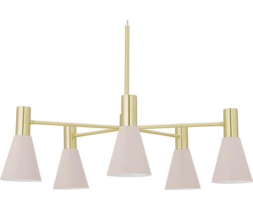 Lampada a sospensione Sia, Paralume: Metallo verniciato a polv, Paralume: rosa opaco baldacchino e portalampada: ottone, spazzolato, Ø 75 cm