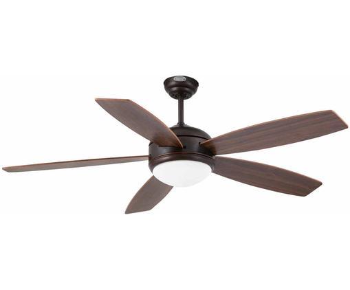 Ventilateur de plafond Vanu, Brun