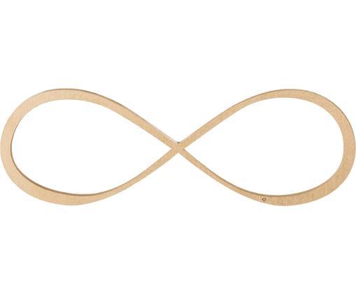 Wandobject Infinity van gelakt hout, Gelakt MDF, Goudkleurig, 20 x 7 cm